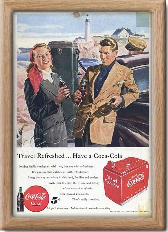 1949 Coca Cola Travel  - framed preview