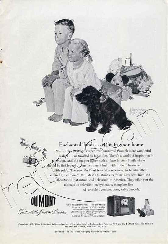 1950 Du Mont TV Full Page Vintage Ad - unframed