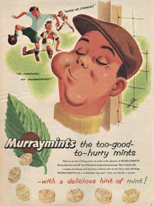 1955 Murraymints Charlie Football