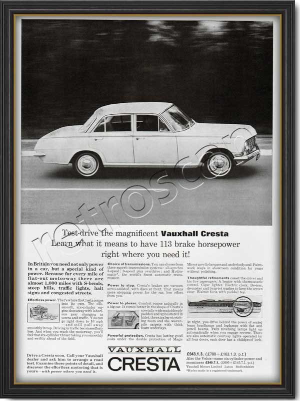 1964 Vauxhall Cresta - framed preview