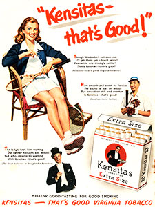 1952 Kensitas Cigarettes tennis girl