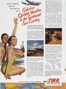 1953 TWA Vacations vintage ad