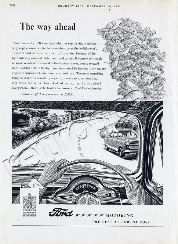 1952 Ford Zephyr Six Vintage ad
