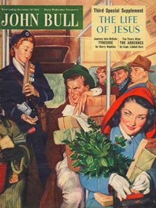 1954 December John Bull Vintage Magazine Christmas shopping Trip