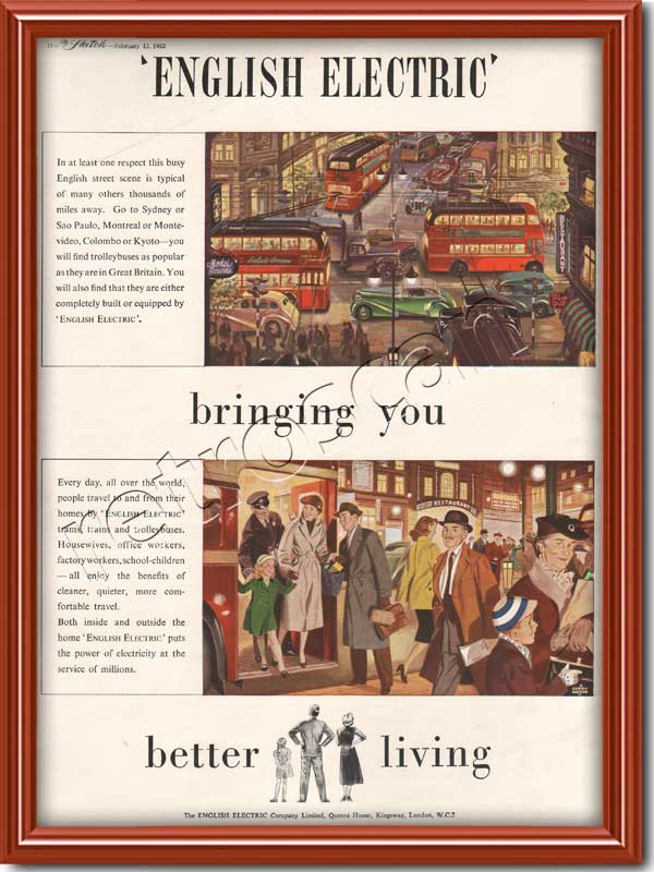 1952 English Electric vintage advert
