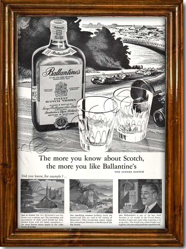 1959 Ballantines Scotch Whisky - framed preview