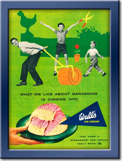 1958 Wall's Ice Cream - framed preview retro