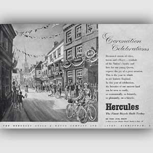 1953 Hercules Bicycles Vintage Ad