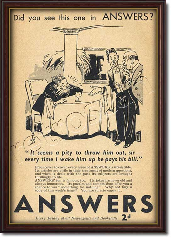 1939 Answers Magazine  - framed preview