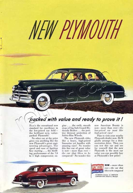 1950 Plymouth advert