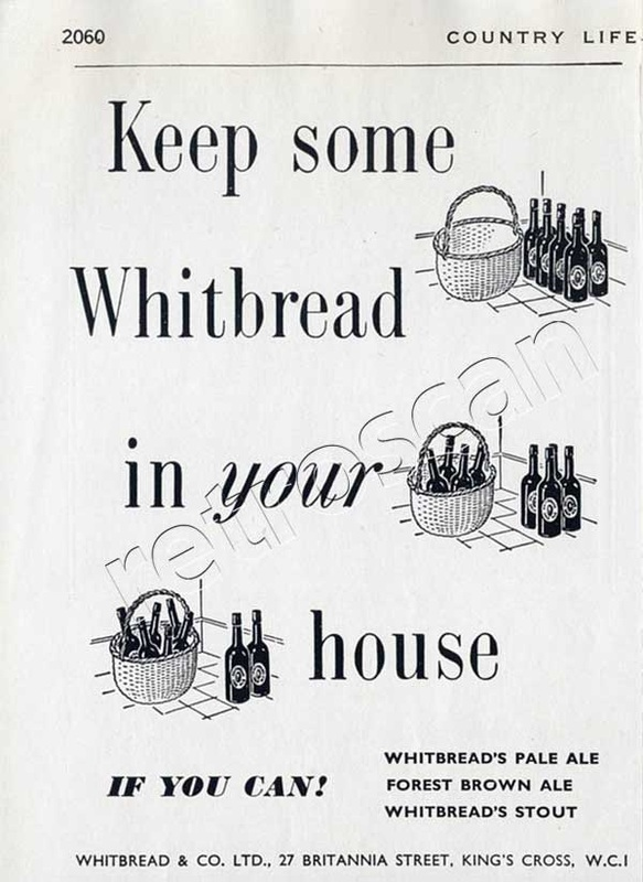 1951 Whitbread Pale Ale advert