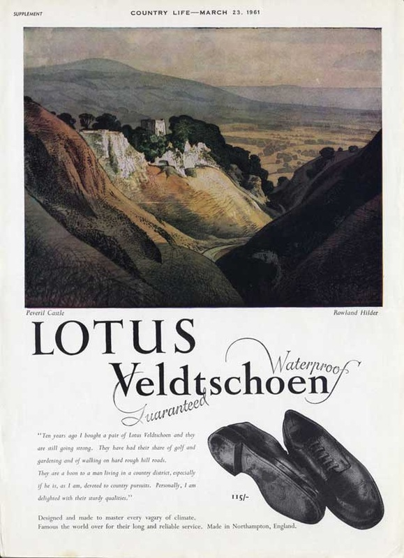 1961 Lotus Shoes showing Peveril Castle - unfarmed