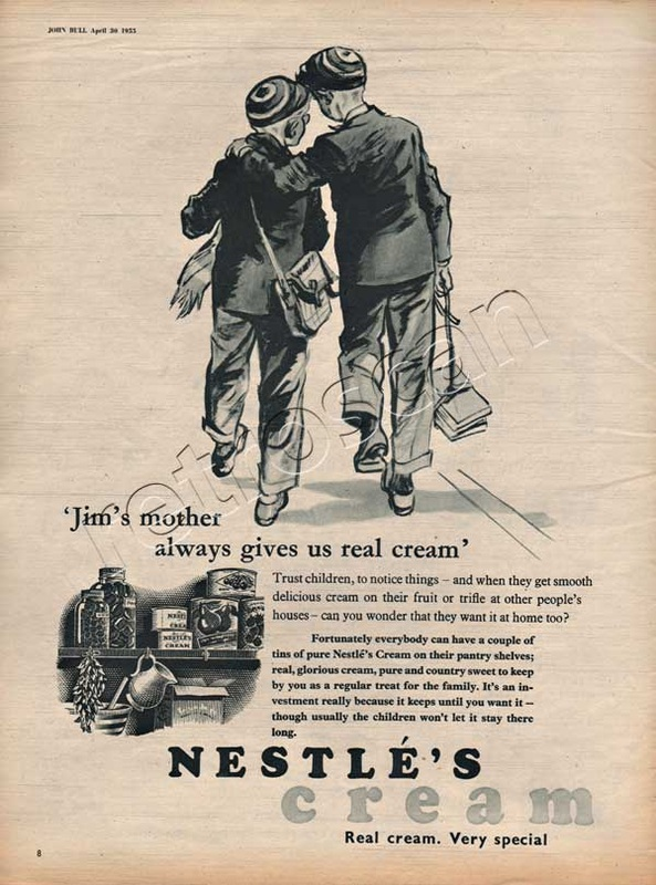 1955 Nestles Cream vintage advert