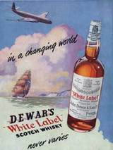 1952 Dewar's white label whisky
