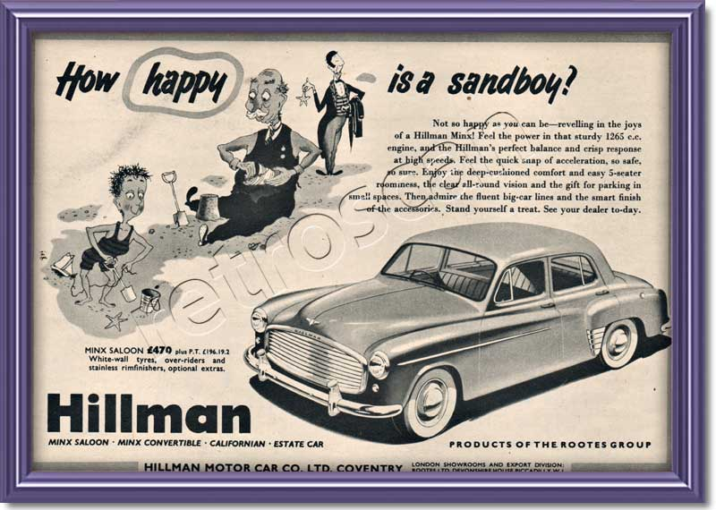 1954 Hillman  - framed preview