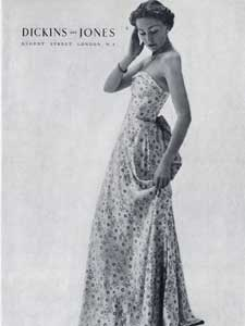 1950 Dickins and Jones Vintage fashion ad