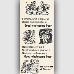 1954 ​Brewers' Society advert