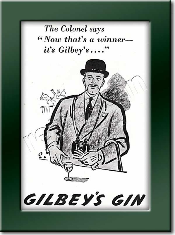 1950 vintage Gilbey's Gin advert