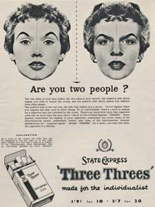 1955 State Express Three Threes' Cigarettes
