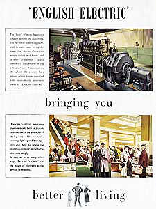 1952 ​English Electric - vintage ad