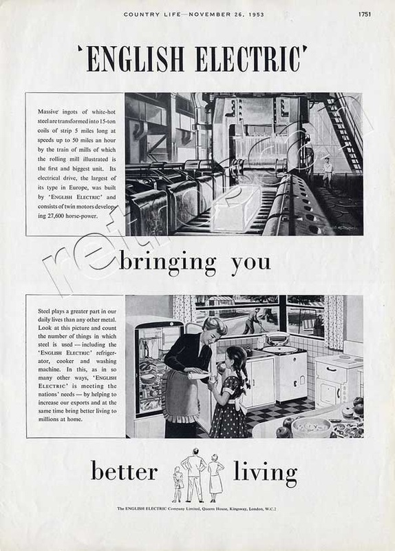 1953 vintage English Electric advert
