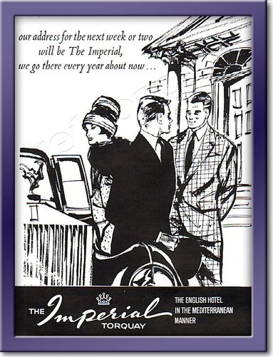 1961 Imperial Hotel Torquay - framed preview vintage ad