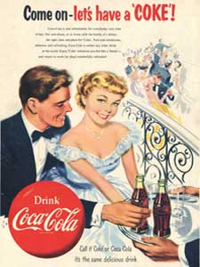 1953 Coca Cola Couple