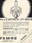 1936 ​Famos Oil Lamps vintage ad