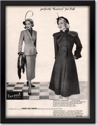 1949 Korrect Fashions framed preview