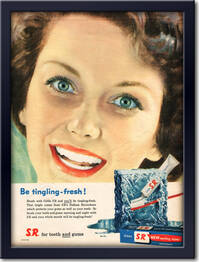 1958 Gibbs S.R. Toothpaste - framed preview retro