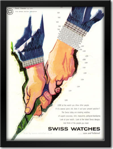 1960 Swiss Watches framed preview