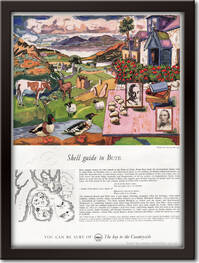 1961 Shell Giude To Bute - framed preview vintage ad