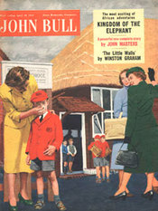 1955 April John Bull Vintage Magazine Mum wiping her child's nose
