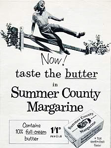 1955 Summer County Margarine - vintage ad