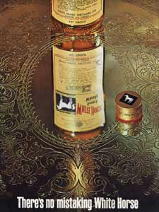 1964 White horse whisky advert