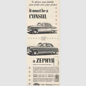 1953 Ford Consul & Zephyr - vintage