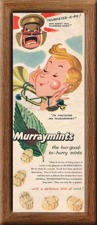 vintage 1954 Murraymints  advert