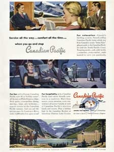 1950 Canadian Pacific - Service - vintage ad