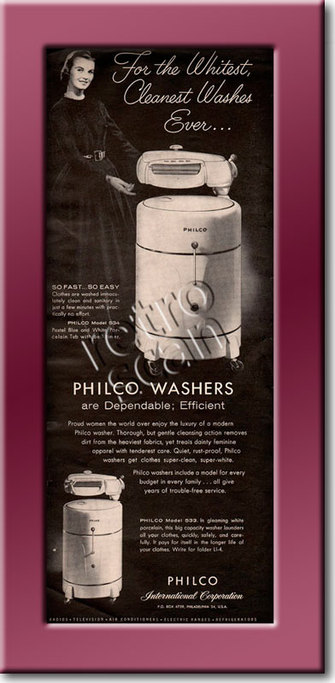 1955 Philco Washing Machines  vintage ad