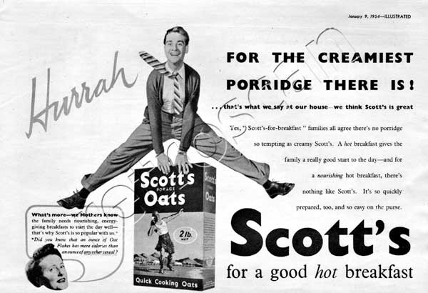 1954 Scott's Porage Oats