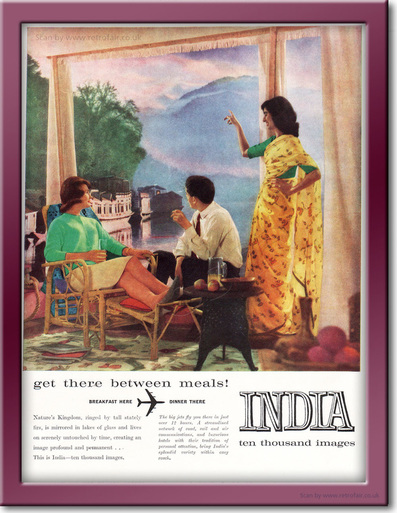 1961 India Tourism  - framed preview retro