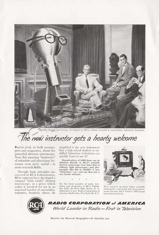 1950 Radio Corporation of America (RCA)  vintage ad