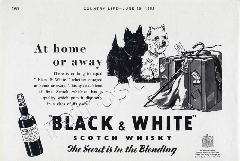 1952 Black & White Scotch Whisky - unfarmed