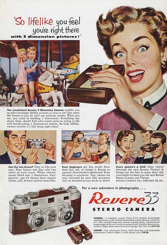 1953 Revere Stereo Camera advert