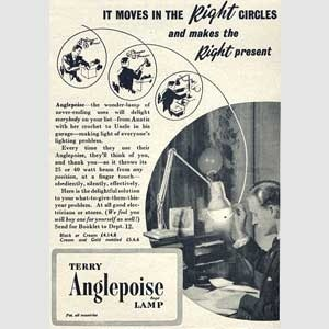1953 Anglepoise Lamps - vintage ad