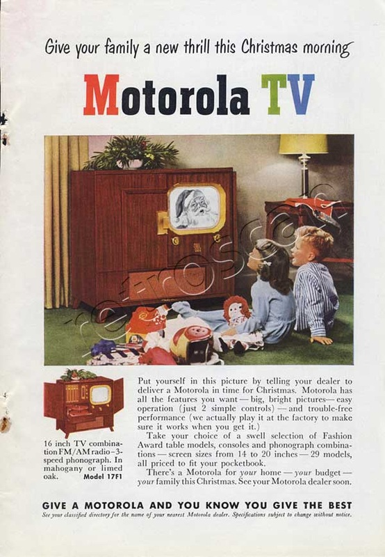 1950 Motorola TV advert