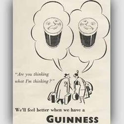 1950 ​Guinness vintage ad