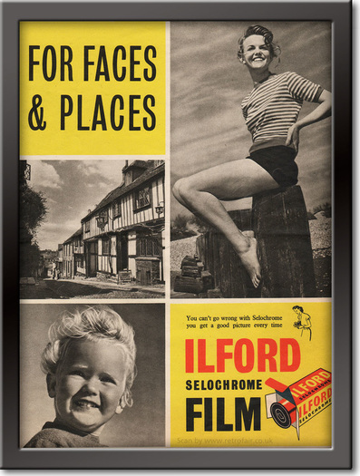 1952 Ilford Film - framed preview retro
