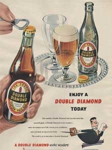 1953 Double Diamond Pale Ale Vintage Ad
