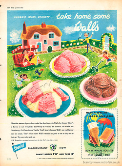 1955 Wall's Ice Cream vintage ad